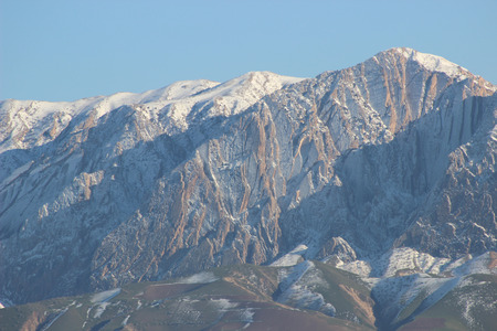 zugspitze mountain: high snow mountains Stock Photo