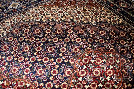 carpet and flooring: Persian carpet close up