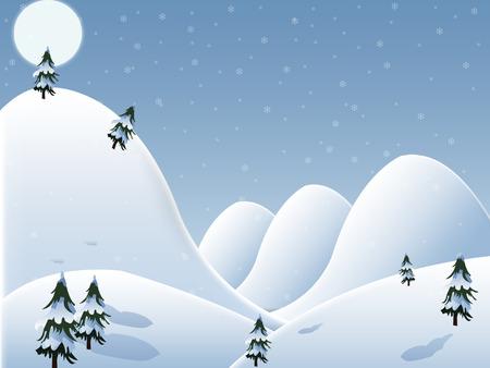 winter tree: Christmas Background