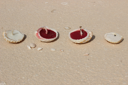 votive candle: candles in sand