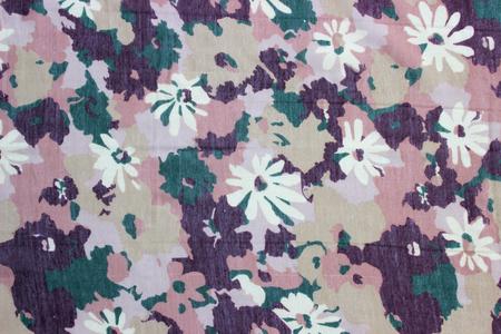 rolling landscape: white flowers pattern