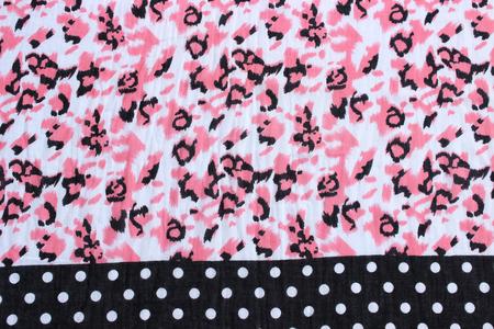 rolling landscape: pink flowers pattern
