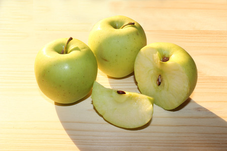no way out: Fresh cut apples Stock Photo