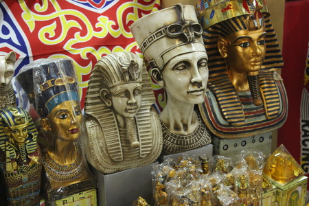 queen nefertiti: Egyptian traditional culture souvenirs Stock Photo