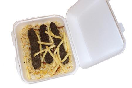 kabab: Beef Kabab with Rice