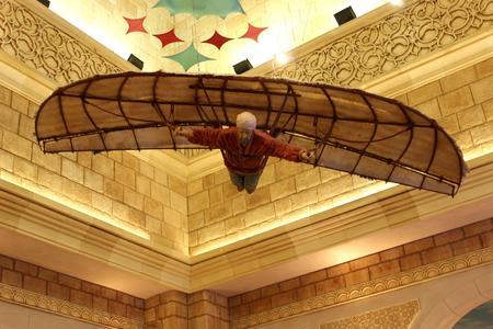 flying man: Flying man close up