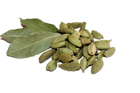 things that go together: Cardamom and bay leaves