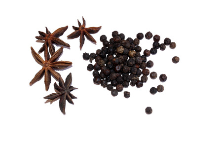 things that go together: Black pepper and anise star
