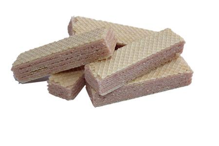 wafers: strawberry Wafers Stock Photo