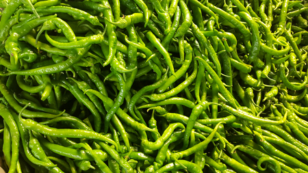 chilly: Green chilly Stock Photo