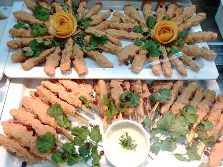 kabab: chicken kabab sticks
