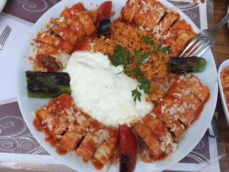 Tasty food and salad 版權商用圖片
