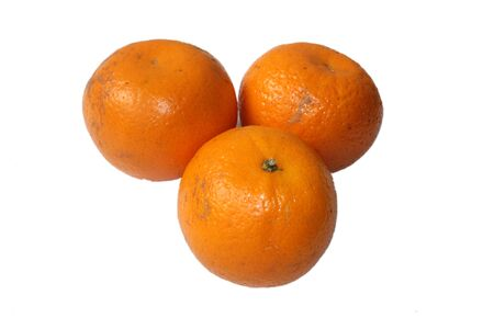 fruit mandarine in white background