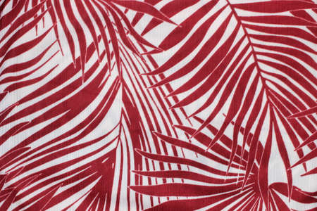 Floral leaves pattern in red and white