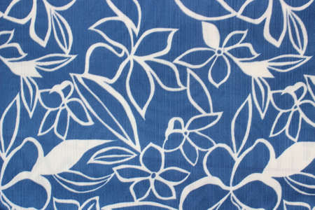 Floral leaves pattern in Blue and white Stockfoto