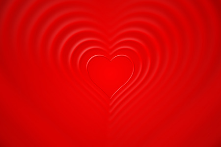 nested red background hearts