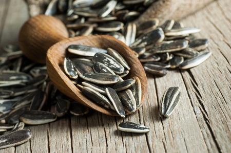 Sunflower Seeds in Wooden Shovel