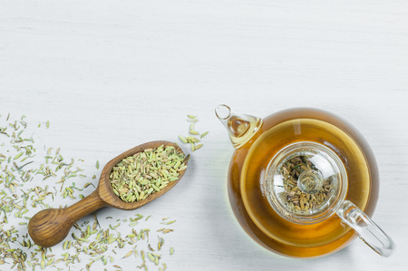 Herbal infusion fennel tea