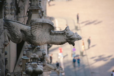 dome type: animal statue at Milan cathedral