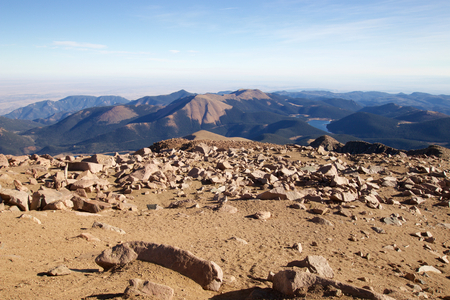 View to the south from Pikes Peak, Colorado
