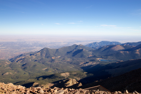 View to the southeast from Pikes Peak, Colorado