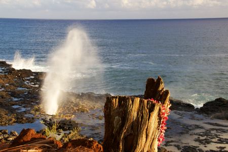 Spouting horn Kauai Stock Photo