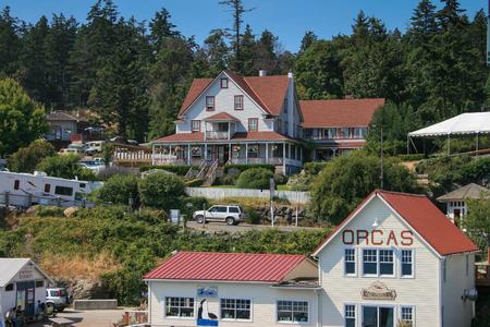 Orcas, Washington, USA â € August 2, 2009: Houses at Orcas Island
