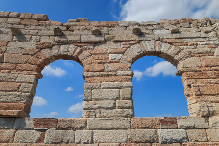 Four isolated arcs called the wing at the Verona Arena