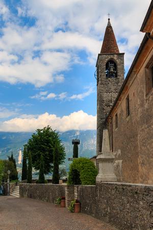 Chiese Chiesali di Pieve in Tremosine high above Lake Garda west shore