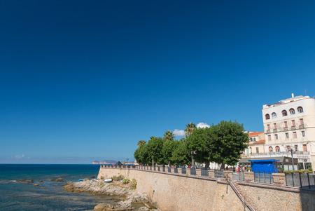 Waterfront of Alghero, Sardinia, Italy