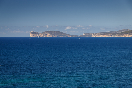A view to Capo Caccia on the Italian island of Sardinia