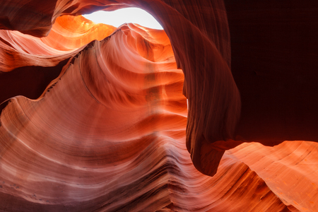 Colorful sandstone formation inside breathtaking Lower Antelope Canyon near Page, Arizona