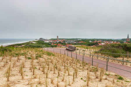 Cityscape of Domburg, the Netherlands seen from Hoge Hil