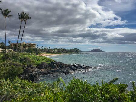 Beachlife at Polo Beach Park on the Hawaiian island of Maui, USA Archivio Fotografico - 125514835