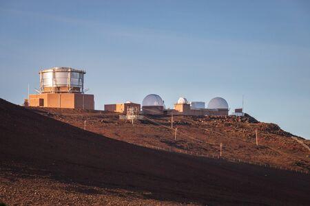 Haleakala High Altitude Observatory Site with AEOS Telescope on the Hawaiian island of Maui, USA Imagens