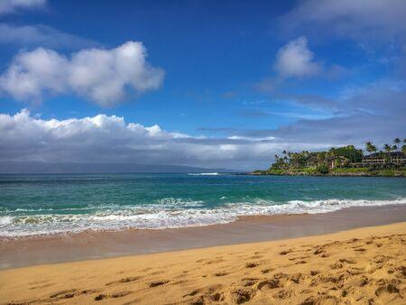 Napili Bay beach on the Hawaiian island of Maui, USA Imagens - 125515753