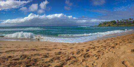 Napili Bay beach on the Hawaiian island of Maui, USA Imagens - 125515755