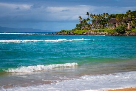 Napili Bay beach on the Hawaiian island of Maui, USA Imagens - 125515756