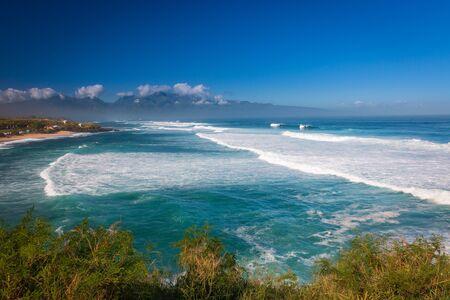 View from Hookipa Lookout to Hookipa Beach Park (Ho'okipa) on the Hawaiian island of Maui, USA