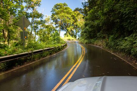 Hana Highway (360) on the Hawaiian island of Maui, USA Imagens