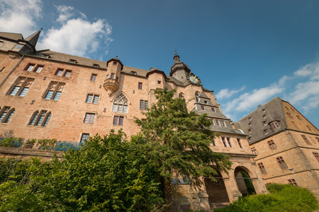 Marburg Castle (Landgrafenschloss) on top Schlossberg in the German city of Marburg Imagens - 125542943