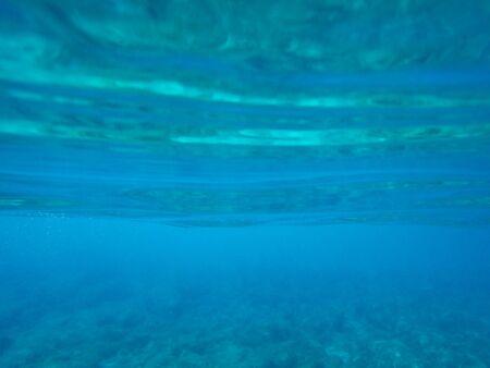 Rocky sea floor with stones in the Mediterranean sea, natural scene, Sardinia, Italy Zdjęcie Seryjne