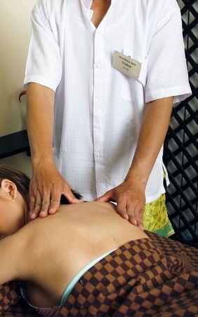 balli massage in the SPA Stock Photo
