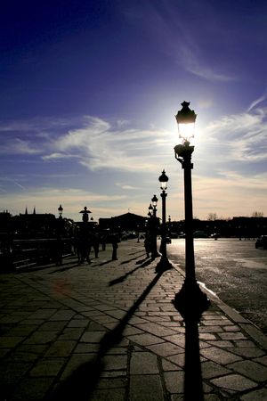 flagging: Atmosphere in Paris Stock Photo