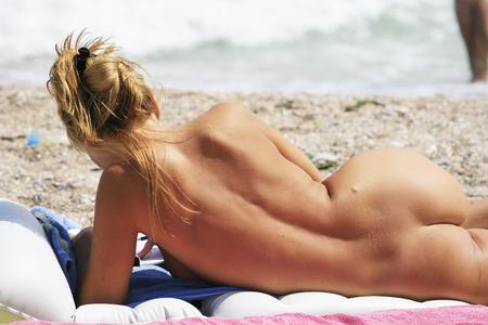 Nude women on the beach