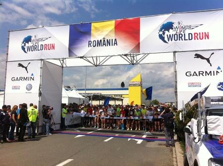 World Run Romania 2015. Wings for life Stock Photo