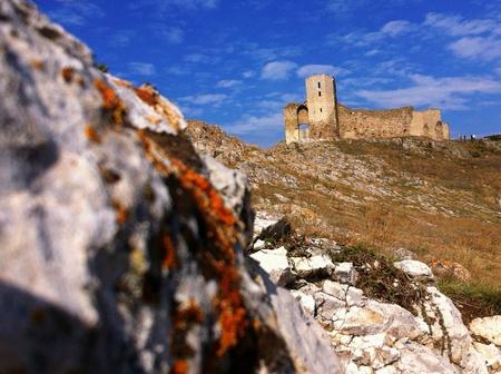 ruins of Enisala Stock Photo