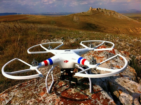 Drone ready to fly for aerial images