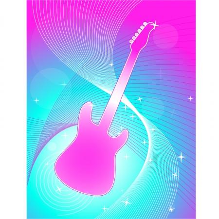 ギターの抽象的な背景
