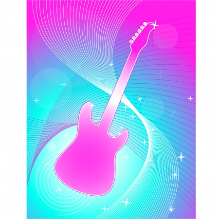 pink smoke: Abstract Guitar Background